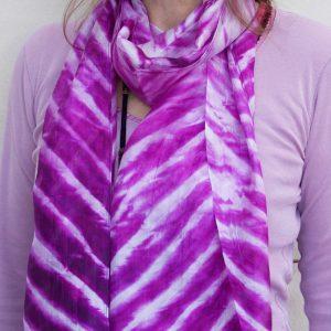 Purple Zebra Scarf