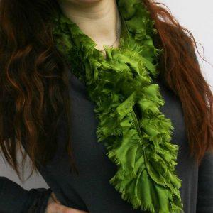 Ruffle silk scarves