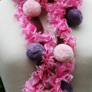 Velvet-Pompom-Scarf-Pink