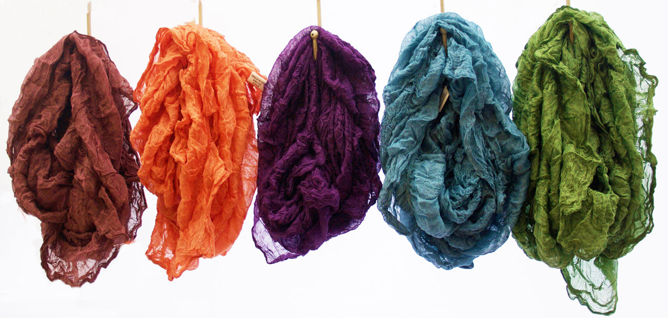 Silk Linen Loop Scarves