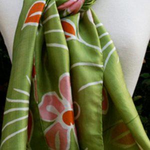 Tropical-Green-Block-Printed-Silk