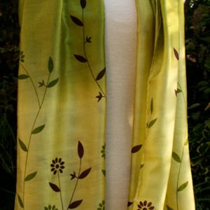 Green-Flowers-Printed-Silk
