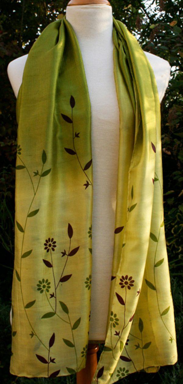 Green-Flowers-Printed-Silk