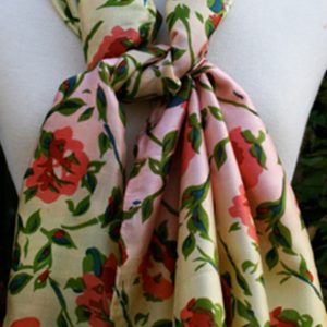 Retro-Rose-Printed-Silk