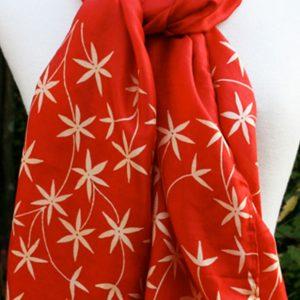 Red-Star-Block-Printed-Silk