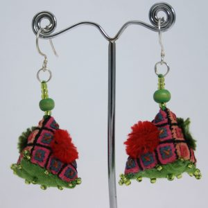 Green Applique earrings