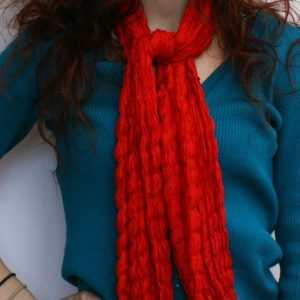 Raw-Crinkled-Silk-Scarf-red