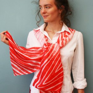 Tie-Dyed-Silk-Scarf-in-Red