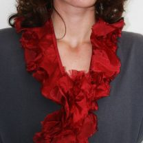 Red-silk-ruffle-scarf