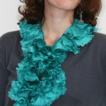 Ruffle-silk-scarf