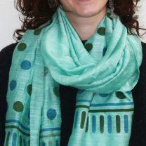 Silk-linen-scarf-in-green