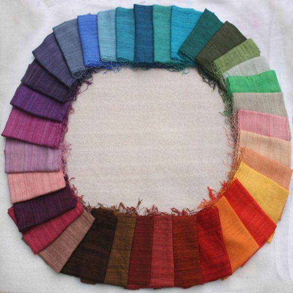 Raw silk colours