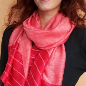 Silk-Linen-Coral-Scarf