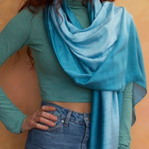 Silk linen and silk cotton scarves