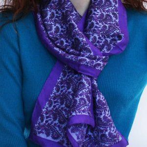Hand-Woven-Silk-Scarf-lavender
