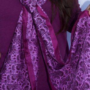 Hand-Woven-Silk-Scarf-Pink