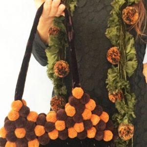 Velvet-Pompom-Bag-and-Scarf