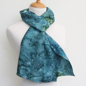 Water-effect-hand-woven-silk-scarf
