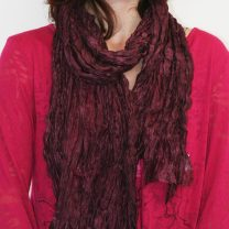 Raw-crinked-silk-scarf