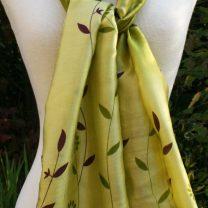 Hand-woven silk scarf