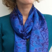Hand-Painted-Silk-Scarf