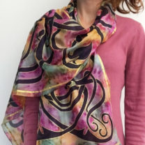 Celtic-silk-scarf-in-soft-pinks