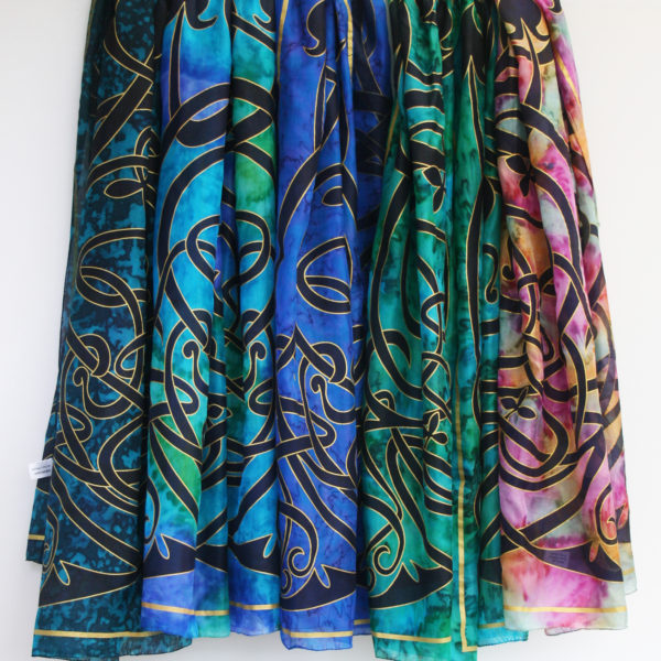 Celtic-hand-painted-silk-scarves
