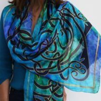 Blue-Celtic-silk-scarf