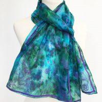 Cats-on-blue-silk-scarf