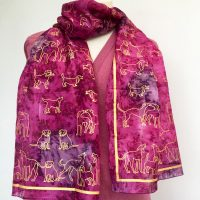 Silk-Scarf-with-dogs