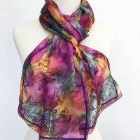 Dogs-printed-on-silk-scarf