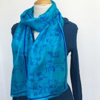 Blue-silk-scarf-with-dogs