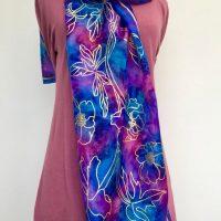 Gold-flower-print-silk-scarf