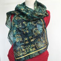 Green-silk-scarf-with-dogs