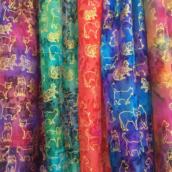 Silk-scarves-with-cats