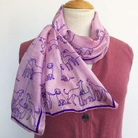Pink-silk-scarf-with-dogs